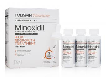 FOLIGAIN® MINOXIDIL 5% HAIR REGROWTH TREATMENT FOR MEN 3 Month Supply 生髮水